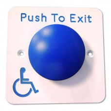 Asec Push To Open Blue Dome DDA Exit Button (Asec Push To Open Blue Dome DDA Exit Button) Grant Haze Architectural Ironmongers and Builders Merchants