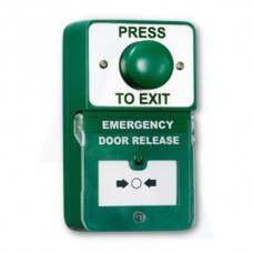 Asec Dual Unit Combined Exit Button and Call Point (Asec Dual Unit Combined Exit Button and Call Point) Grant Haze Architectural Ironmongers and Builders Merchants