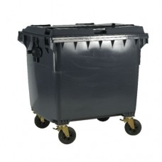 1100 Litre Wheelie Bin With Flat Lid