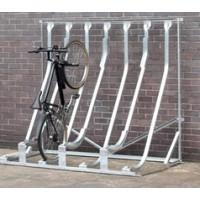 Semi Vertical Multi Bike Rack
