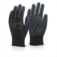 PU Coated Black Glove EC9BL
