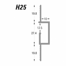 Type H -  Hanging Reveal Bead (H25) Grant Haze Architectural Ironmongers and Builders Merchants