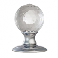 Ice Facetted Crystal Door Knob - AC020 (AC020) Grant Haze Architectural Ironmongers and Builders Merchants