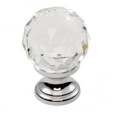 Lead Crystal Clear Faceted Knob - FTD670 (FTD670) Grant Haze Architectural Ironmongers and Builders Merchants