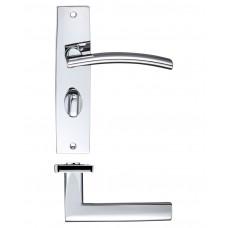 Amalfi Lever on Bathroom Backplate - ZPZ083