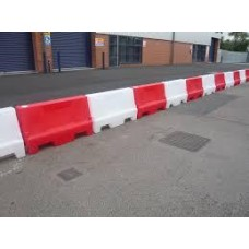 Water filled Red / White Lane Separator / Barrier