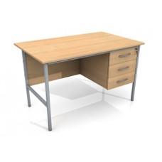 1200mm Single Ped Office Desk 3 Drawer