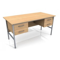 1500mm Double Ped Office Desk