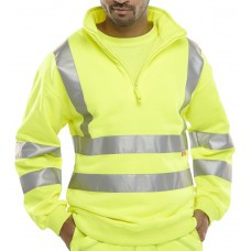 Quarter Zipped Hi-Vis Sweatshirt