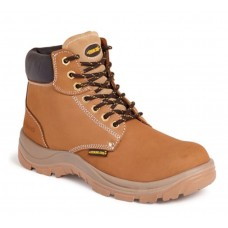 Honey Leather Safety Toe/Midsole Boot