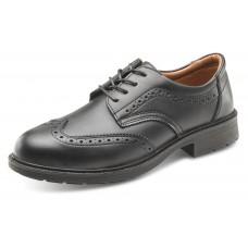 S1 Black Brogue Shoe
