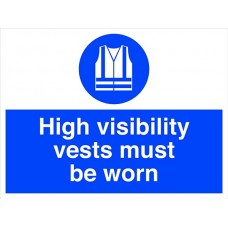 High visibility vests must be worn