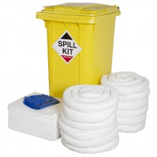 240L Oil and Fuel Spill Kit in Wheeled Bin